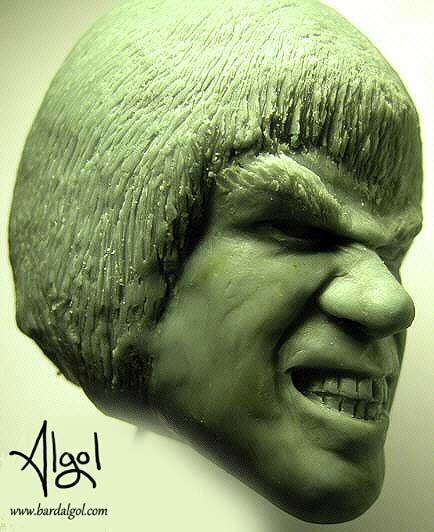 Lou Ferrigno Incredible Hulk Portrait Sculpt by Bard Algolncredible-hulk-lou-ferrigno-1