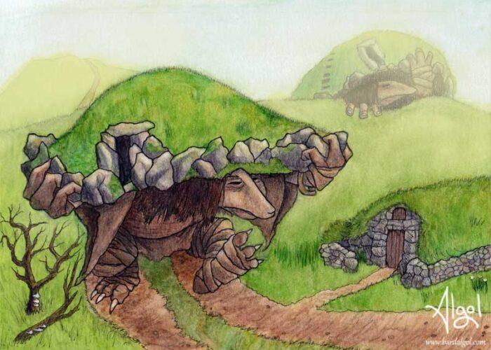 Mound Trolls by Bard Algol cairn tomb