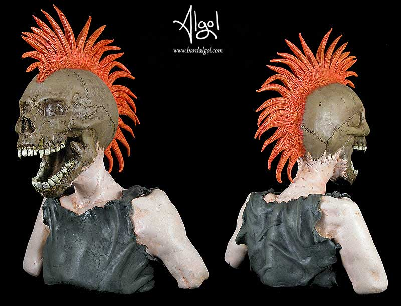 The Exploited Screaming Skull by Bard Algol