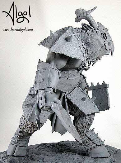 Warhammer Beastman Statue by Bard Algol