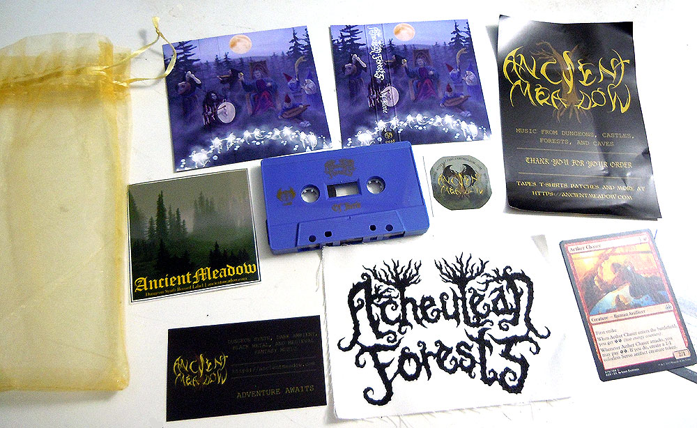 Acheulean Forests - Of Fairie Cassette Package dungeon synth dark ambient